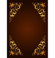 Elegant decorative hand drawn template frame vector image