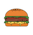fast food hamburger icon vector image vector image