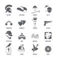Film Genres Icons Black Set vector image vector image