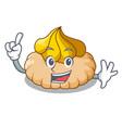 finger ice cream biscuit on wafers cartoon vector image vector image