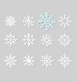 flat icons of snow flakes silhouette vector image vector image