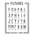 futhark - runic alphabet vector image vector image
