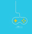 Game background wire and joystick vector image vector image