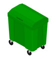 garbage trash container vector image