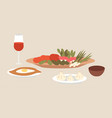 georgian cuisine dishes local vector image vector image