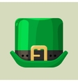 Green leprechaun hat with a buckle vector image