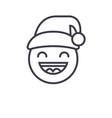 happy new year emoji concept line editable vector image vector image