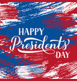 happy presidents day calligraphy lettering on vector image vector image