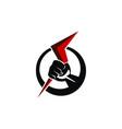 hold bolt logo design template vector image