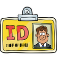 identification card vector image vector image