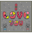Inscription for gay men in love I love you vector image vector image