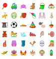 kindergarten icons set cartoon style vector image vector image