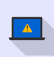 laptop security alert icon flat style vector image vector image