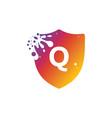 letter q logo vector image vector image