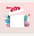 lucky box opened white present box with red vector image