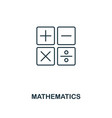 mathematics outline icon creative design from vector image
