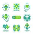 medical logotypes medicine pharmacy clinic vector image