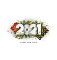 modern greeting happy new year 2021 vector image