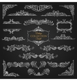 Ornate scroll elements collection vector image vector image