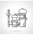 Power plant flat line icon vector image vector image