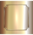 precious metal golden plate on smooth vector image vector image