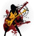 Rock woman vector | Price: 1 Credit (USD $1)
