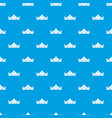 royal crown pattern seamless blue vector image vector image