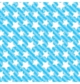 Seamless grunge star texture Blue background vector image vector image