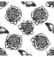 seamless pattern with black and white red lacewing vector image