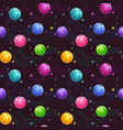 seamless pattern with cute colorful jelly planets vector image vector image