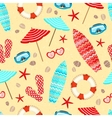 Seamless summer holiday pattern vector image vector image