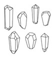 set of geometric crystals geometric shapes vector image