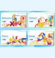 set web page design templates for subject in vector image vector image
