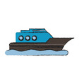 ship boat vehicle vector image vector image