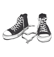 Sneakers With Lovely Heart vector image vector image
