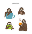 The story of one sloth morning cofee funny
