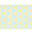 the yellow and blue summer pattern vector image vector image