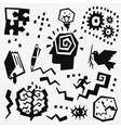 Thinking doodles set vector image vector image