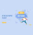 total sale and festive discount website landing vector image