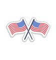 two crossed flags united states patch patriotic vector image vector image