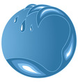 Water wave emblem with copy space vector image vector image