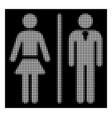 white halftone toilet persons icon vector image