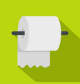 white roll of toilet paper on a holder icon vector image vector image
