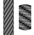 Wire steel rope seamless vector image