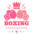 womens boxing vector image