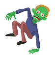 zombie on the floor icon cartoon style vector image vector image