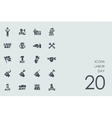 Set of labor day icons vector image