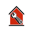 A simple house with work tool wrench Home vector image