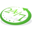 Abstract green watch vector image vector image