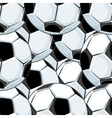 Background pattern of overlapping soccer balls vector image vector image